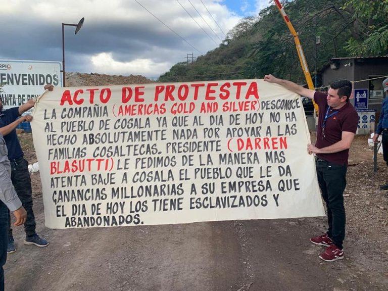 Huelga minera en Cosalá, Sinaloa